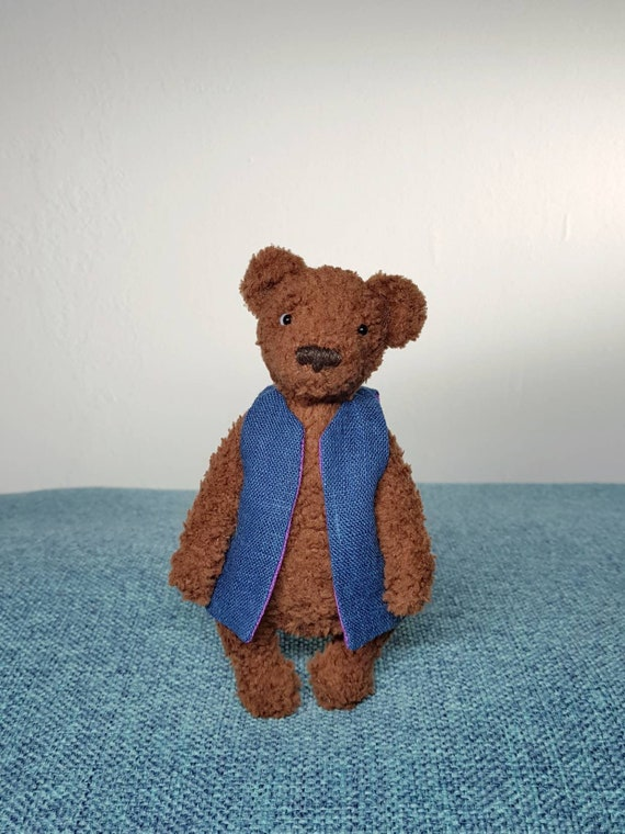 Weebee Baby Doll Vest Waistcoat by Laura Tegg | Crochet teddy bear ... | 760x570