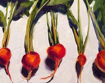 beet wall art   beet painting   beet art   vegetable art   vegetable painting   kitchen art   kitchen painting   fine art   daily painting