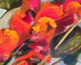 snapdragon // snapdragon art // snapdragon painting // flower art // flower painting // original art // flower bouquet art // original art