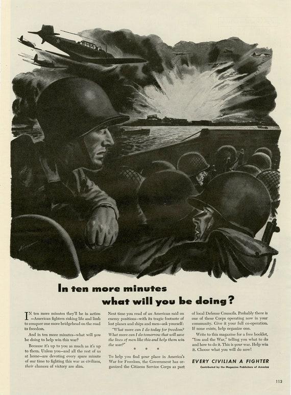 1943 Large Advertising Ad Military Advertisement Print Man cave Auto Garage Shop Wall  Decor Art,