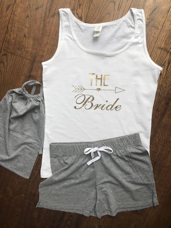 Sleepwear & Robes Personalised Pyjamas Pjs Vest Shorts Bag Wedding Hen Party Just Married Set Intimates & Sleep