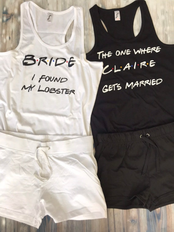 528abba37a Brides Hen do pyjama Set personalised Mrs Bride to be