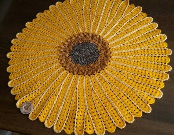 baby shower nursery Yellow Sunflower Crochet Baby Blanket sunflower throw