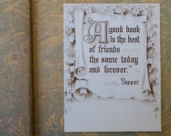 Vintage Book Quote Bookplate