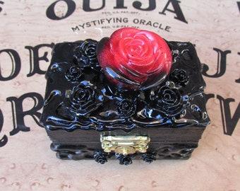 Skull Demon Satanic Pentagram Unholy Lust  High-Quality Genuine Wood Jewelry Box-Satanic Jewelry-Satanic Jewelry Box-