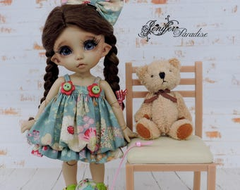 Dress for a doll BJD Lati Yellow/Pukifee/IrrealDoll/Luts Tiny Delf
