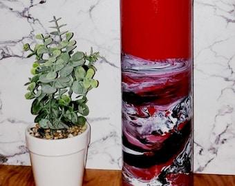 Black Red Vase