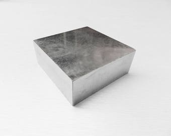 "Extra large 6/"" x 4/"" en acier massif dômes bench block dapping block bijoux de forge"