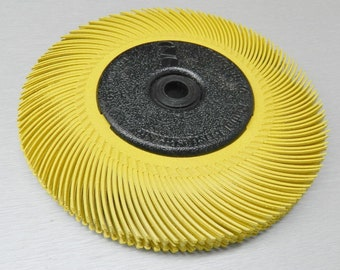 "3M Radial Bristle Brush Kit 6"" Tc 80 Grit Yellow Brush 8 Ply w-Bushings #33215 (9E)"