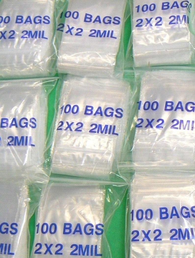 "3/""x3/"" Clear 2 Mil Plastic Zip Lock Bag Reclosable Seal 2Mil Small Zipper Baggies"