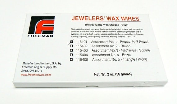 WAX WIRES JEWELERS WAX ASSORTMENT BLUE ROUND WAX WIRE JEWELRY MAKING MODELING