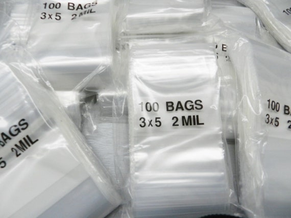 3X5 2MIL SEALTOP BAG SINGLE TRACK 100 Bags F20305