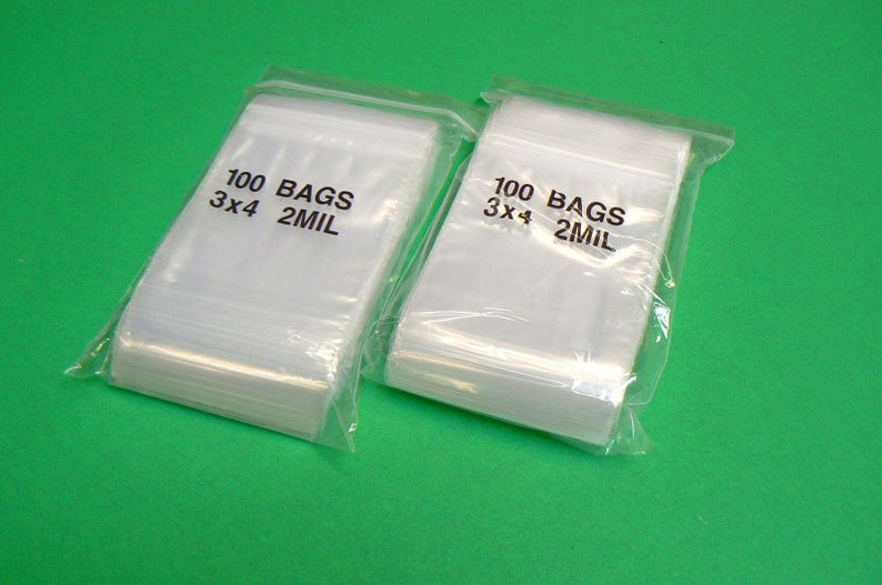 "200 Clear 10 x 12/"" 2 Mil Reclosable Resealable Ziplock Zipper Poly Plastic Bags"