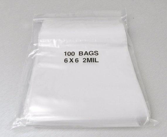 "1000 Ziplock Bags 2 Mil 6x6 Reclosable Clear 2mil Poly Zip Lock Bag 6/""x6/"""