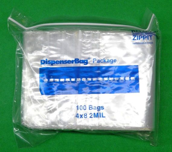 """100 4x8 Reclosable Resealable Clear Zip Lock Poly Plastic Bags 2Mil 4/"""" x 8/"""" in"""