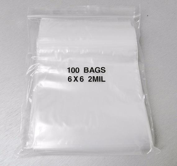 "1000 Ziplock Bags 2 Mil 6x6 Reclosable Clear 2mil Poly Zip Lock Bag 6/""x6/"" Reloc"