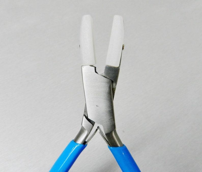 "Flat Nose Nylon Jaws Pliers 5-3//4"" Jewelry Bending Plier Straighten Wire Work"