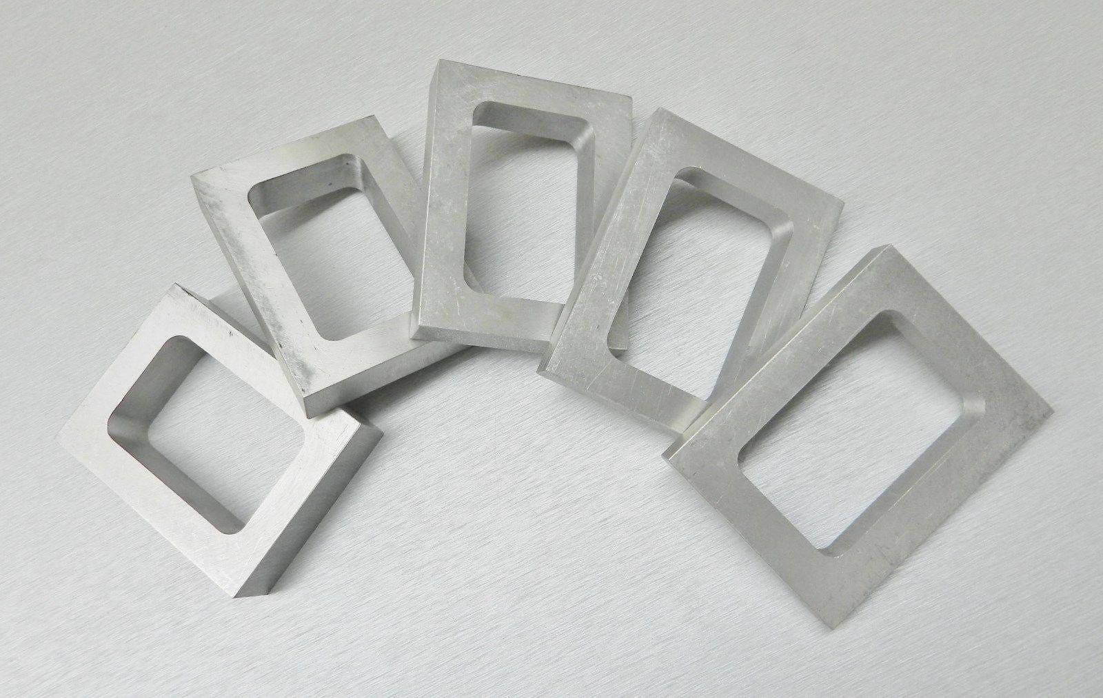 Cadres en caoutchouc caoutchouc caoutchouc moule usinées ensemble de 5 différents moules d'épaisseur de taille pour Vulcanize (2,8 FR-PE) c2f5fc