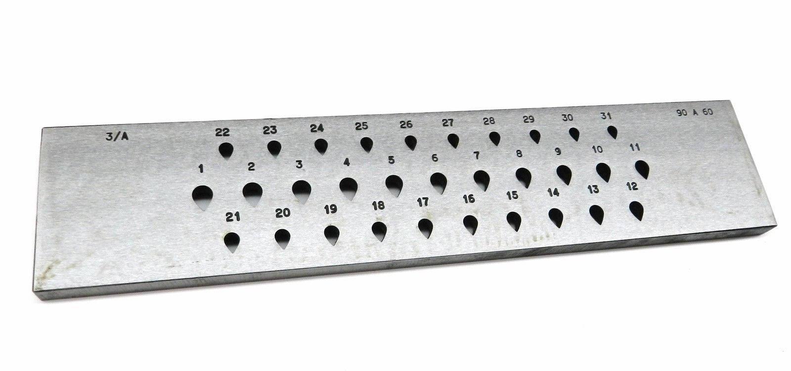 Poire forme Drawplate 9mm 6mm > 31 trous en en en forme de larme forme tirage plaque spécial Italie (2.5FRE) ce74fc
