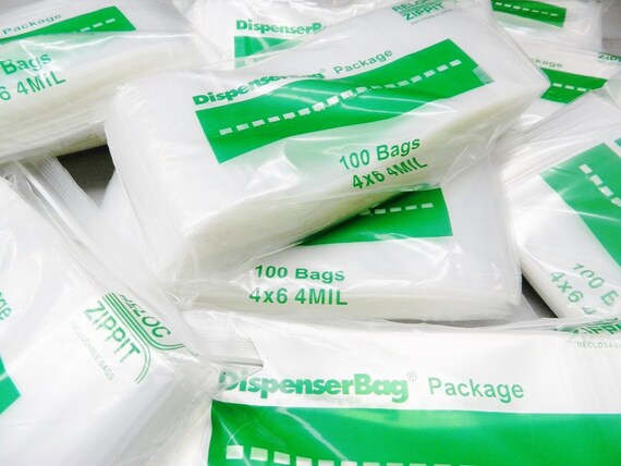 """4X6 Top Quality 300 4/""""X6/"""" Clear 4MIL Thick Zip Lock Reclosable Bags Ziplock Bag"""