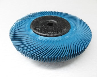"3M Radial Bristle Brush Kit 6"" Dia 400 Grit Blue Brush 8-Ply w-Bushings #33214 (9E)"