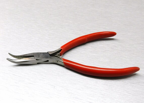Bent Nose Pliers 45º Bent Jaws Plier Jewelry Making Hobby Craft Wire Work 4-1//2/""