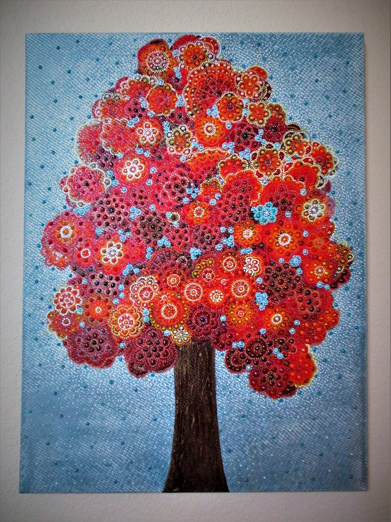 One Of Kind Tree Art Family Tree Tree Of Life Canvas Art Wall Etsy