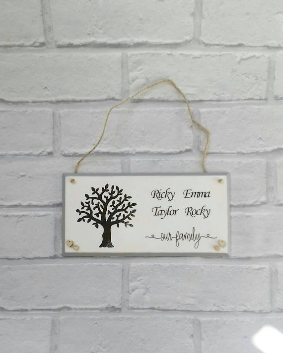 Personalised Wooden Plaquefamily Tree Giftfamily Plaquehousewarming Gift