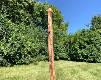 Carved Walking Stick, Hiking Stick, Personalized Walking Stick, Wood Walking Stick, Hiker Gift, Walking Cane, Hiking Gift, Father's Day Gift