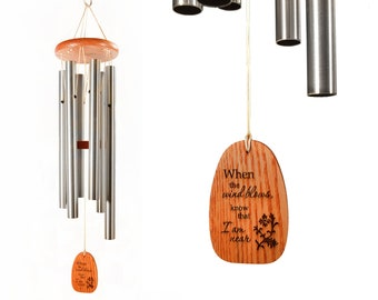 Personalized wind chime, Memorial Wind Chime, Sympathy Gift, Patio Decor, Garden Decoration, In Memory of, Funeral Gift, Grief and mourning