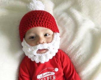 52333a39647 Crochet Santa Beard Hat