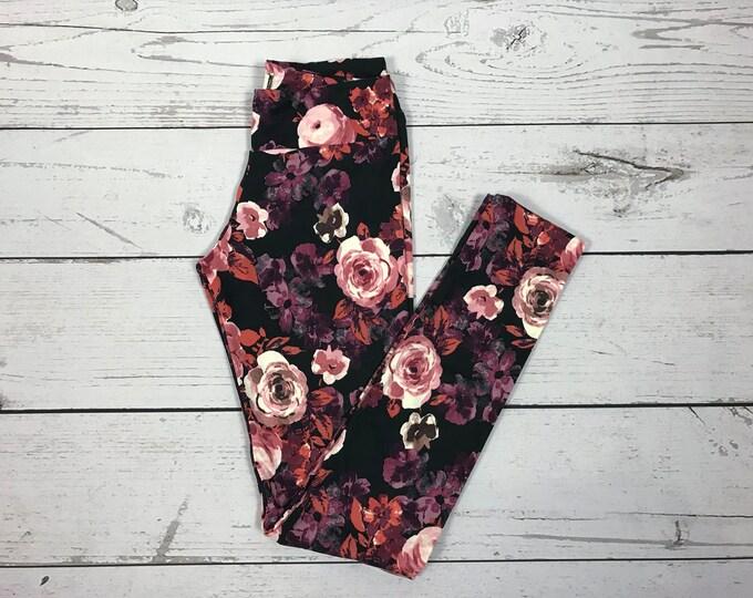 Vintage Rose Print Leggings