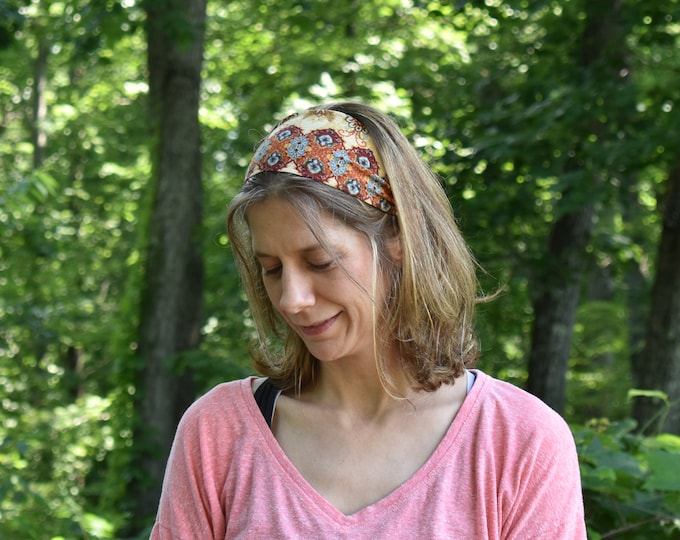 Bohemian Headband - Boho Style Hair Accessory - Boho Chic Headpiece - Fabric Headband - Birthday Gift for Her - No Headache No Slip Headband