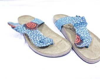 cd001b08572a3 Africa Inspired Wax Print Men Thongs Flip Flops