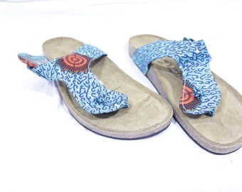 1b0ce9810 Africa Inspired Wax Print Men Thongs Flip Flops