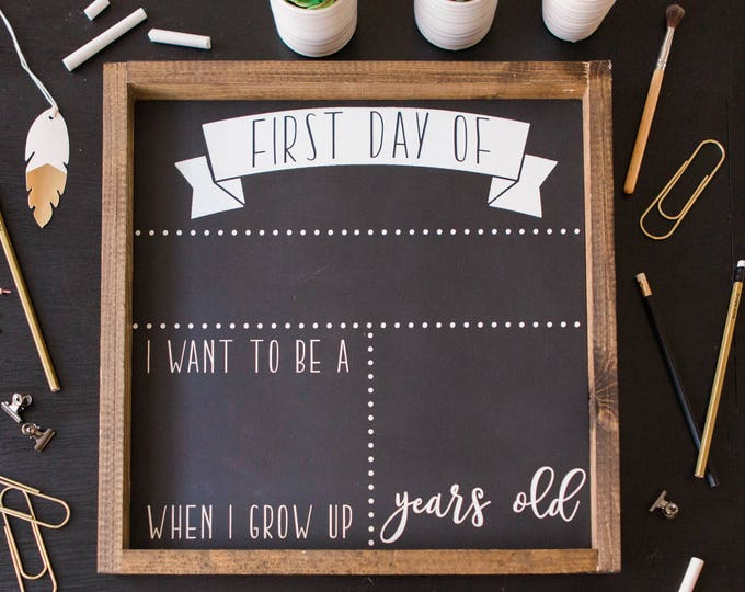 Featured listing image: First day of school sign First day of school chalkboard First day of school Chalkboard Sign Back to school sign School Chalkboard Reusable