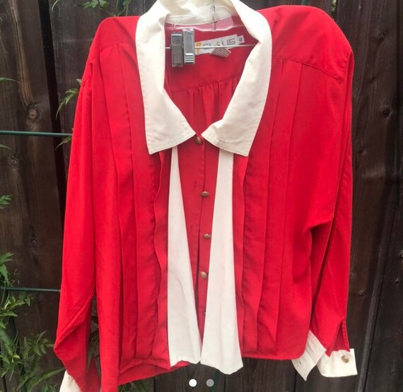 Red, 80s Blouse