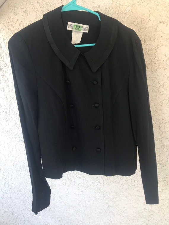Vintage, 80s Black Blouse