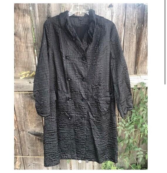 Black Vintage Rain Coat