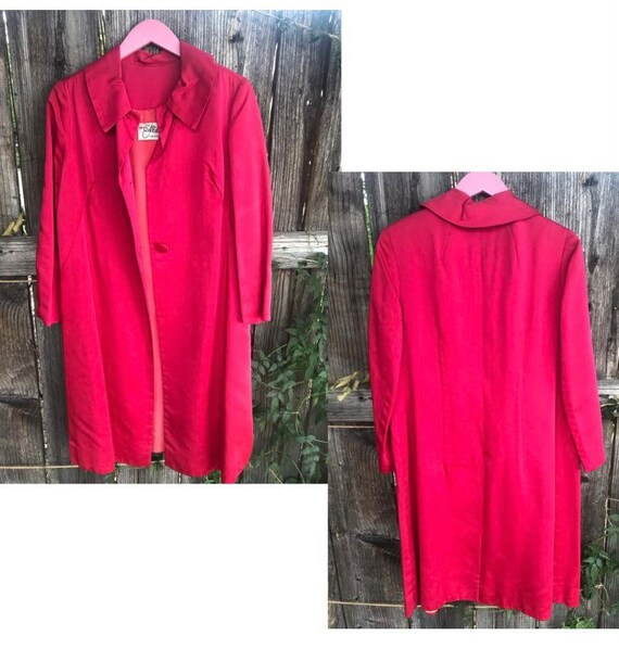 Miss Elliete California Hot Pink 70s Trench Coat