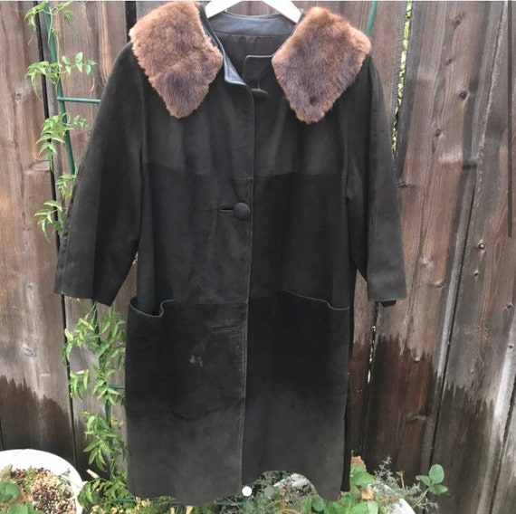 60s Leather Trench Coat