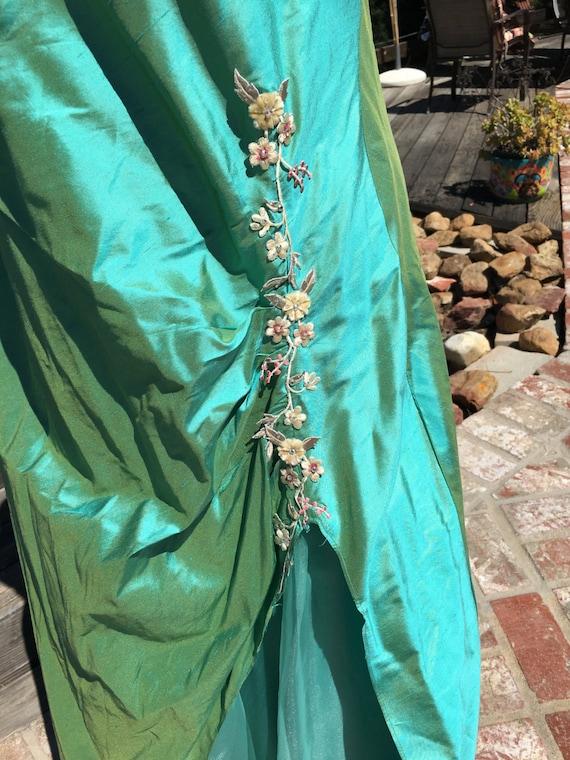 Beautiful satin green ball gown