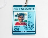 Ring Security ID Badge in TURQUOISE - Wedding Ring Bearer Alternative
