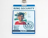 Ring Security ID Badge in BLUE - Wedding Ring Bearer Alternative