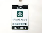 Ring Security ID Badge - Wedding Ring Bearer Alternative / Gift