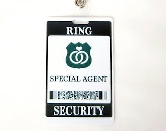 Ring Security ID Badge - Wedding Ring Bearer Alternative / Gift