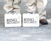 SET OF 2 Chalkboard Ring Security Boxes (White or Black) With Chalk, Coloring Books, & Crayons - Ring Bearer Alternative.
