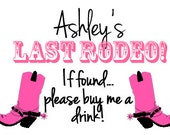 Last Rodeo - Bachelorette Party Temporary Tattoo