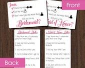 Customized Bridal Party Proposal Card - Will You Be My Bridesmaid / Maid of Honor? Card - Bridesmaid & Maid of Honor Card