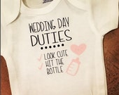 Wedding Day Baby Onesie - Wedding Party Proposal For Baby - Baby Girl Pink Baby Boy Blue